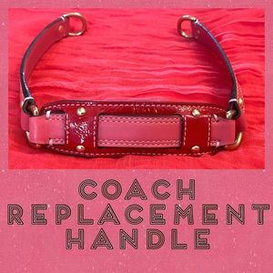 Hot pink and red patent leather COACH replacement